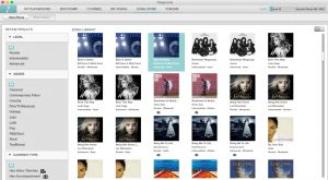 Piano sessions song library page
